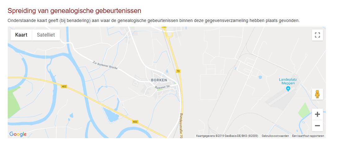 borken meppen google map